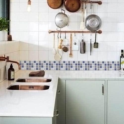 faixa para cozinha pastilha fina