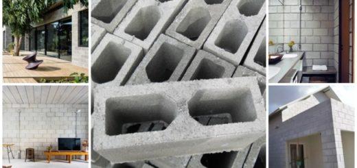 casas de bloco de concreto
