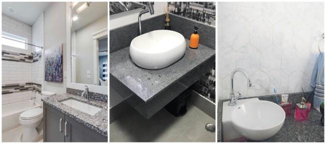 banheiro com granito cinza