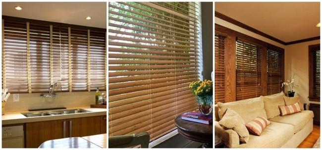 modelos de persiana horizontal de madeira