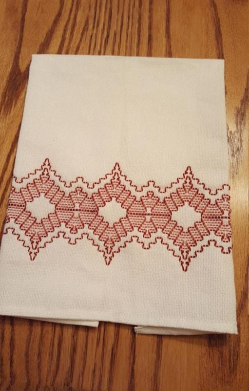 bordado simples em linha