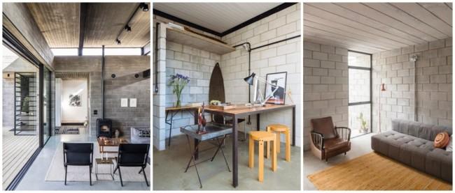 casas com interior em bloco de concreto