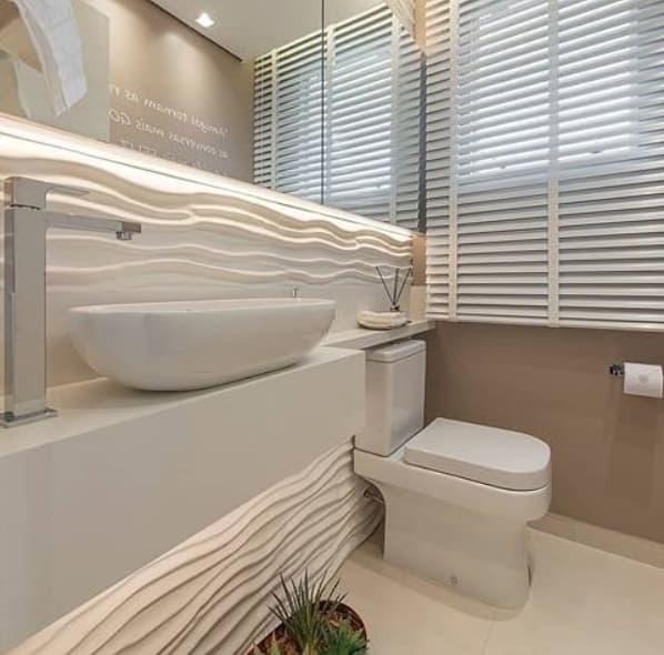 lavabo com persiana branca
