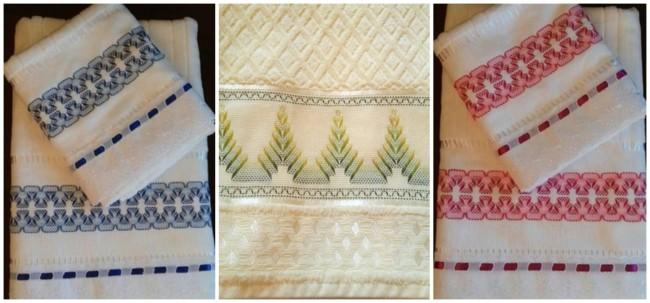modelos de toalhas bordadas com vagonite