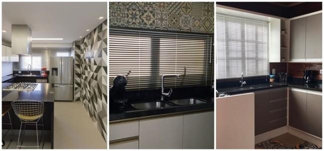 modelos de persiana horizontal para cozinha
