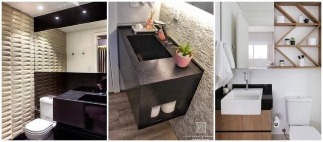 banheiro com granito preto