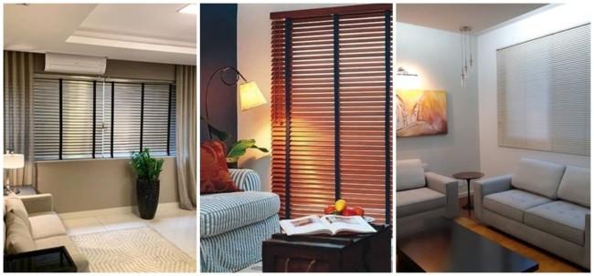 modelos de persiana horizontal para sala