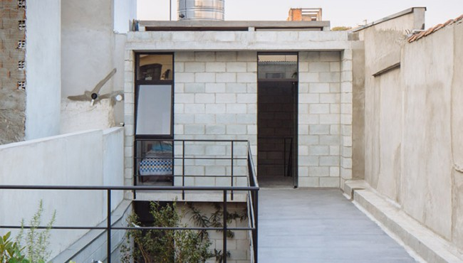 casa simples com fachada de bloco estrutural