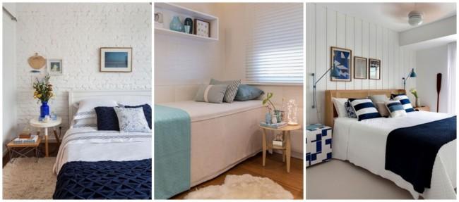 decoração em branco e azul