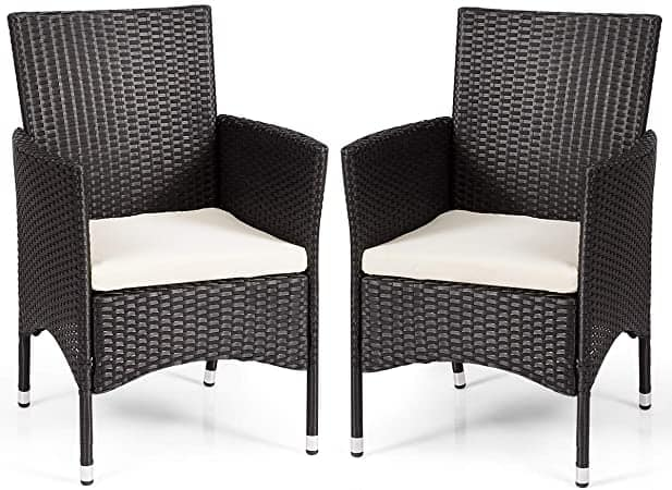 Cadeira de rattan preta9