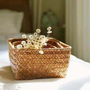 Caixa de rattan decorativa17