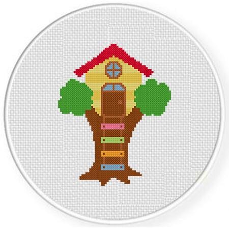Casinha na árvore em ponto cruz68