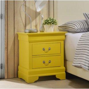 Criado-mudo amarelo vintage11 1