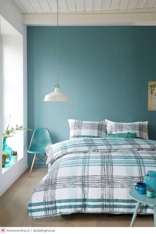 Decoração azul tiffany em quarto58