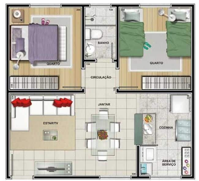 Ideal para quem tem orçamento enxuto e procura construir uma casa pequena e aconchegante