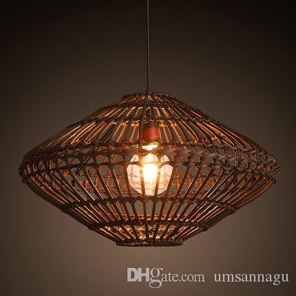 Luminária de rattan com design moderno26