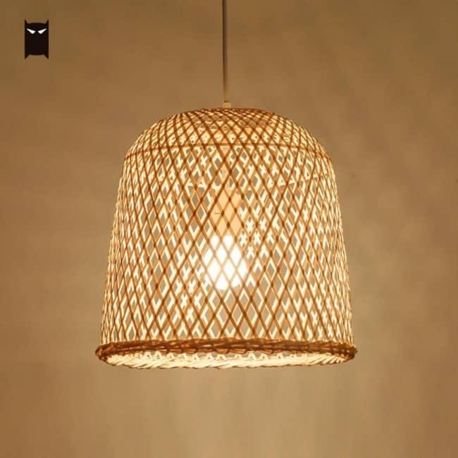 Luminária de rattan24