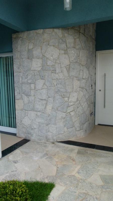 Pedra madeira branca na decor