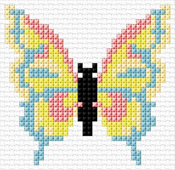 Ponto cruz de borboleta45