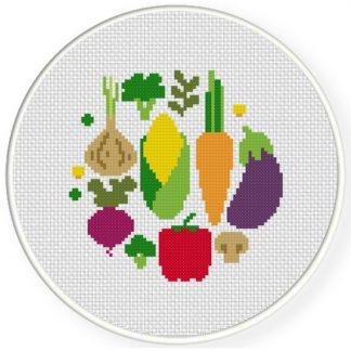 Ponto cruz para cozinha com legumes49