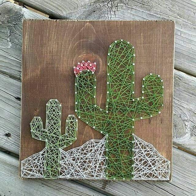 String art cactus grande e pequeno22