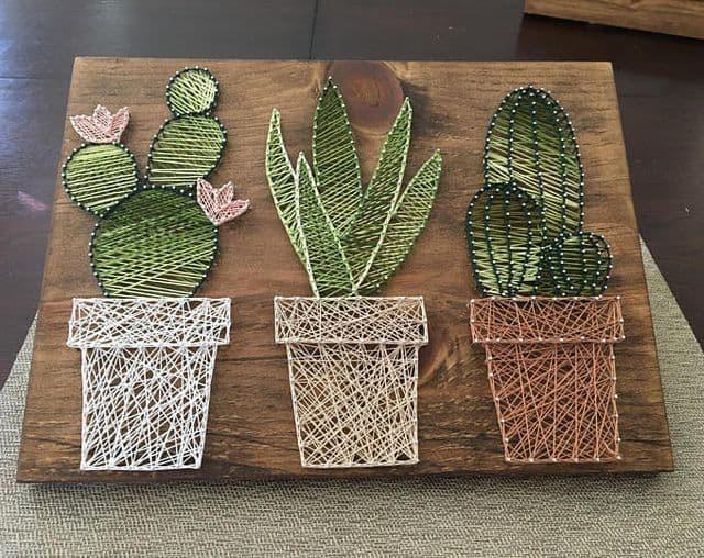 String art cactus no vasinho19