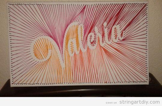 String art com nome Valéria16