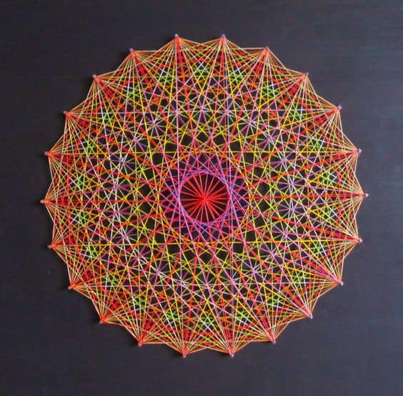String art mandala colorida8