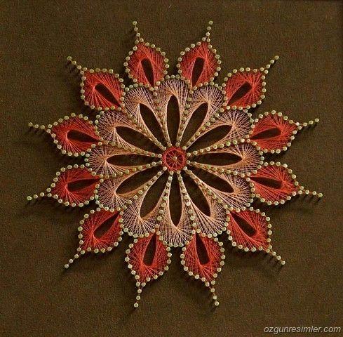 String art mandala laranja6