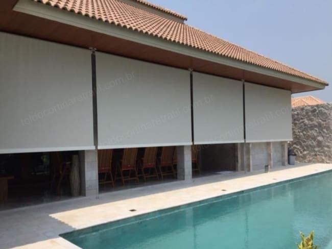 Toldo Retrátil cortina em varanda