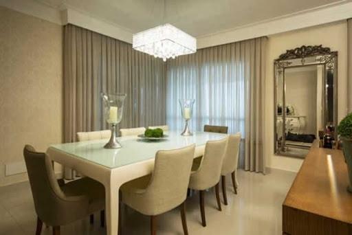 cortina begena sala de jantar