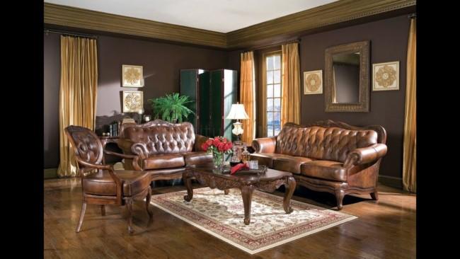 cortina marrom em sala clássica
