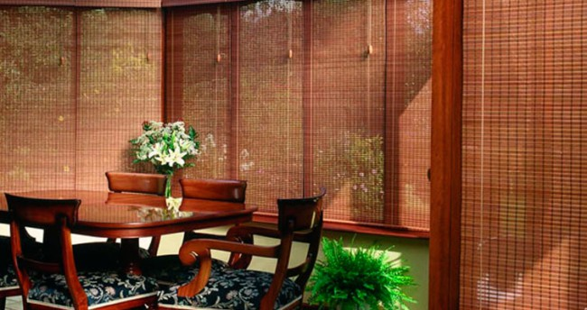 lindas persianas de bambu