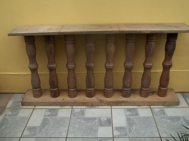 modelo de balaústre de madeira