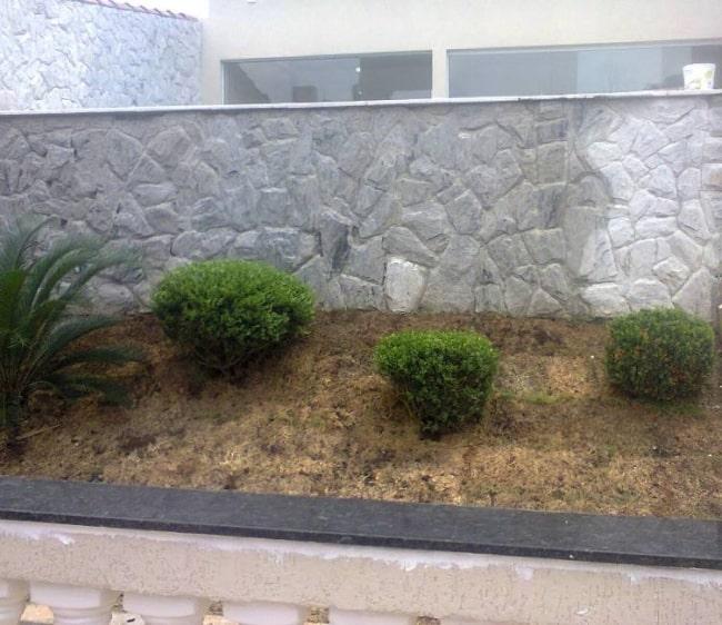 muro de Pedra madeira branca