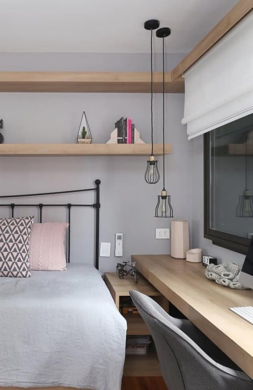 persiana branca para quarto