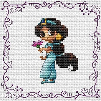 ponto cruz de Princesa Jasmine28