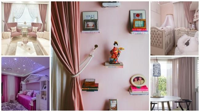 como usar cortina rosa