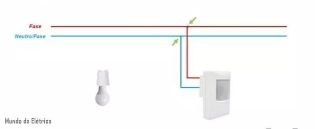 como fazer ligação de em sensor de presença
