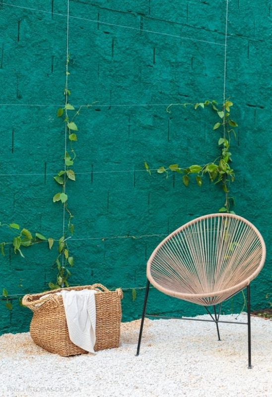 muro com chapisco pintado