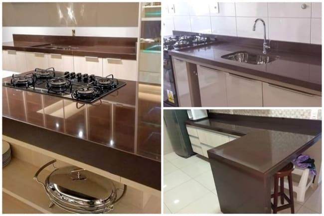 cozinha com granito marrom absoluto