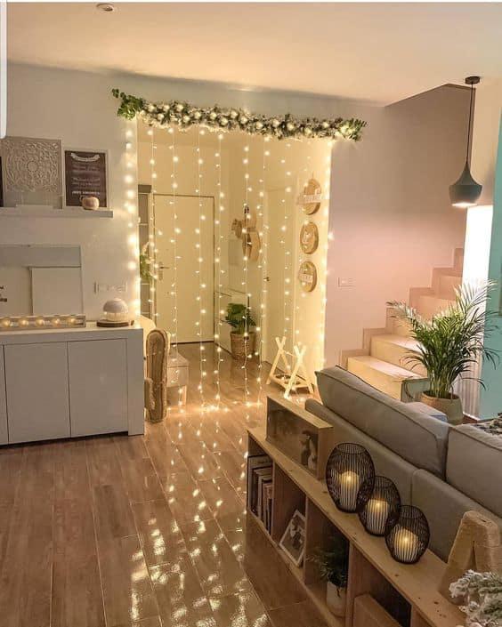 como usar cortina de led na decoração de casa