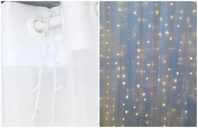 como fazer cortina de led com tecido passo a passo