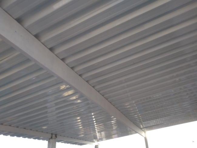 Galpão com telha de alumínio