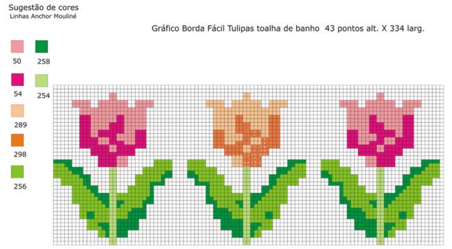 Gráfico de tulipa para ponto cruz69