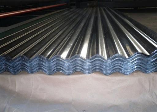 Modelo de telha de alumínio ondulada
