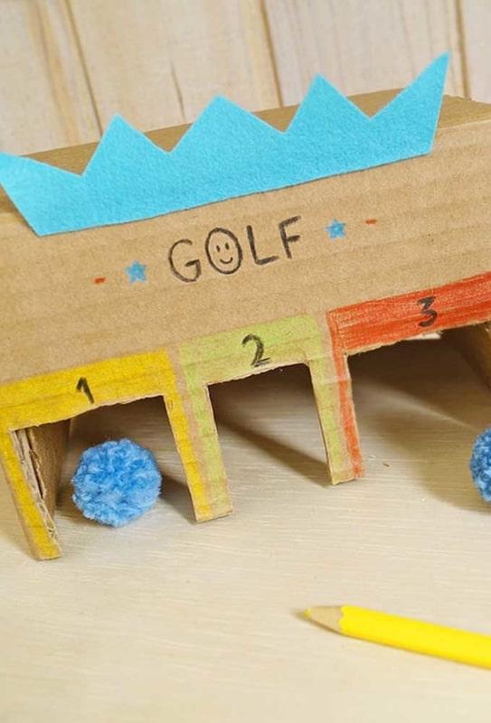 Para brincar de golfe