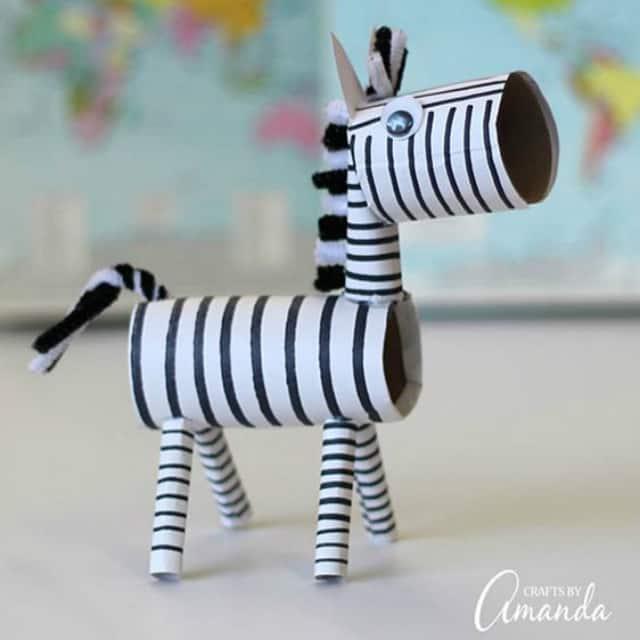 Pequena zebra fácil de fazer