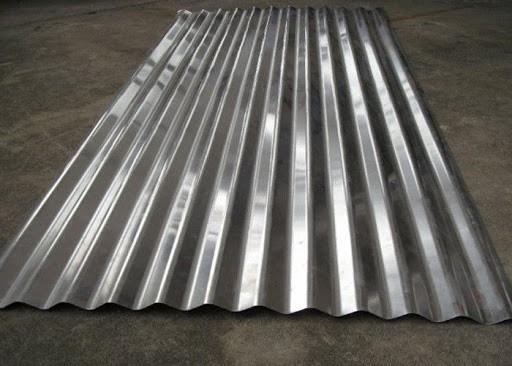 Tipo de telha de alumínio ondulada