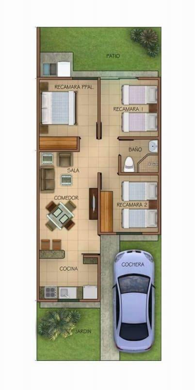 casa terrea com garagem